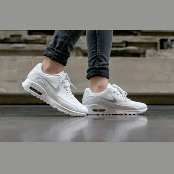 e788688b5e065 Nike Shoes | Air Max 90 Ultra 20 White Metallic Platinum | Poshmark
